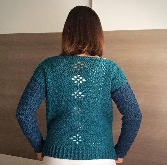 Chilled Mango Pullover Crochet PATTERN by MJ/'s Off The Hook Designs Crochet Pattern for Pullover Sweater Pullover Top Crochet Pattern
