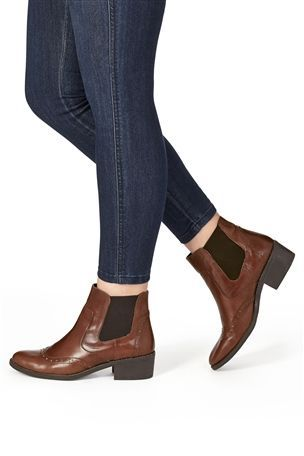 Buy Brogue Chelsea Ankle Boots from the Next UK online shop