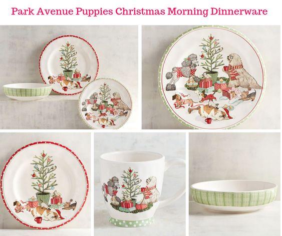 Park Avenue Puppies Christmas Morning Dinnerware