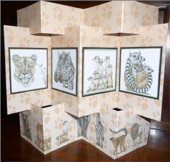 Zig-Zag Four Panel Card by Sheila Weaver - Joanna Sheen