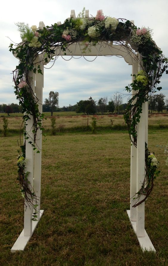 Best ideas about wedding info grey wedding and outdoor for Arbor decoration ideas