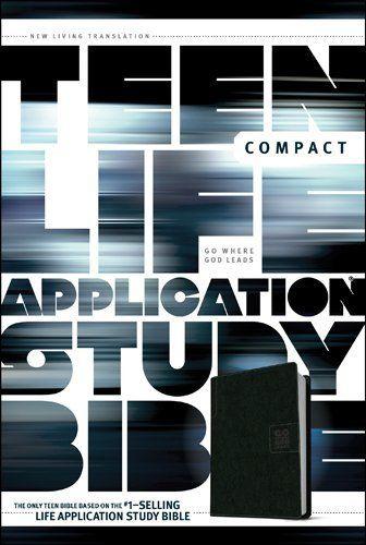 Teen Life Application Study Bible NLT, compact edition - LeatherLike, Black Go