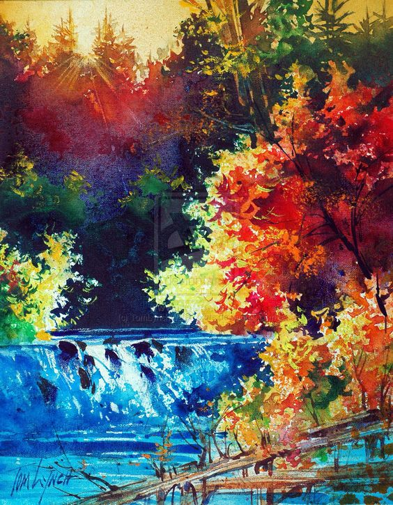 watercolor paintings of landscapes tutorials - Google Search ...