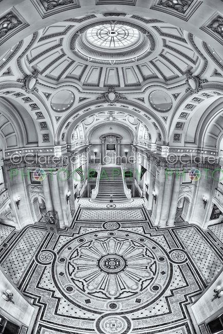 A view of the entrance and rotunda inside Bancroft Hall, the largest dormitory in the world, located at the US Naval Academy in Annapolis, Maryland.  Prints available at http://clarence-holmes.artistwebsites.com/featured/us-naval-academy-bancroft-hall-iv-clarence-holmes.html