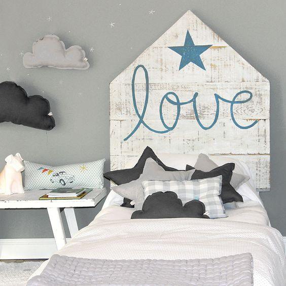 Cabecero Love Azul by Rue Vintage | BelandSoph.com: