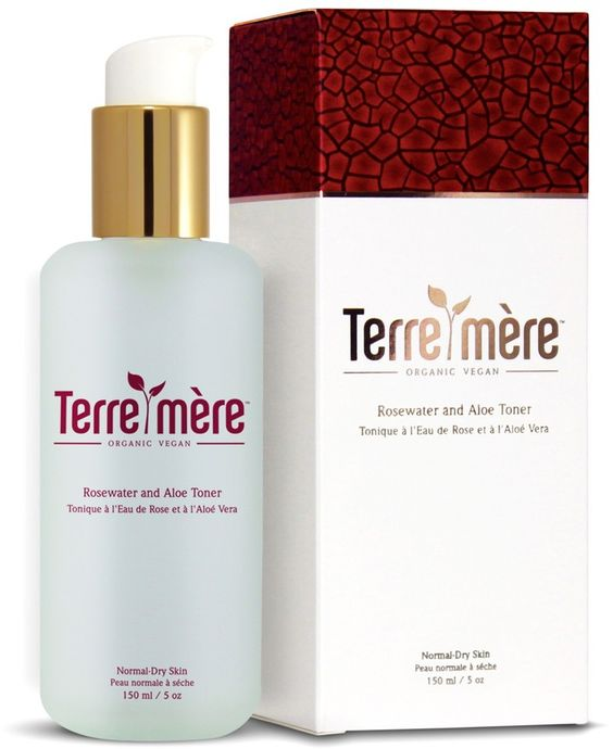 Terre Mere Rosewater and Aloe Toner for Normal-Dry Skin