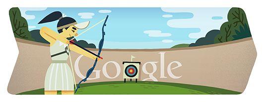 Logo Google : Londres 2012 : Tir à l'arc