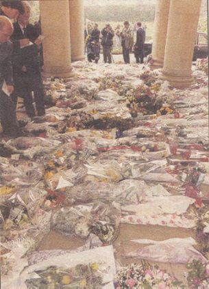 Freddie Mercury Funeral | Some of the many flowers from family, friends and fans