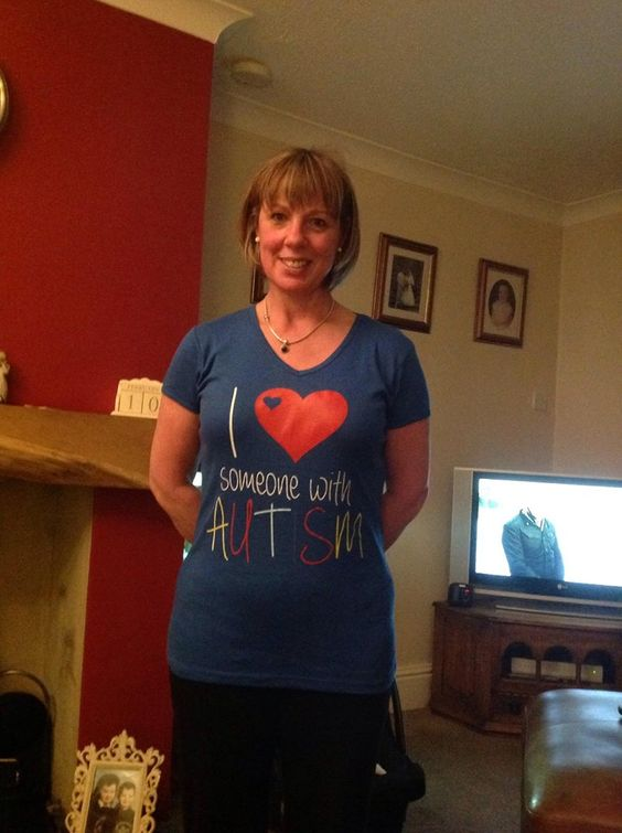 One of our AutismUnited Fans proudly wearing a I Love Someone With #Autism Limited Edition Tee! http://autismtees.com