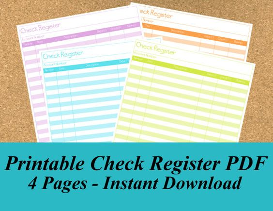 INSTANT DOWNLOAD Daily To Do Planner PDF, Perpetual Planner - printable check register