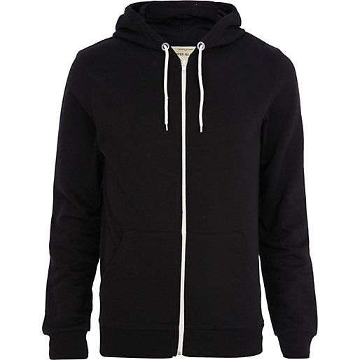 Men Black Hoodie Fashion Ql