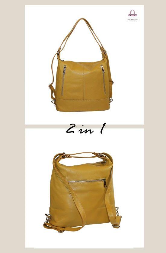 Rucksack Handtasche 2in1 Gelb In 2020 Ledertasche Damen Handtasche Rucksack Taschen