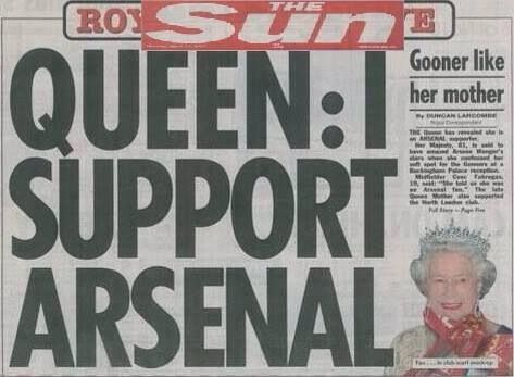 Royal Arsenal. If We win the league next season, will Queenie give us all the day orf ?!