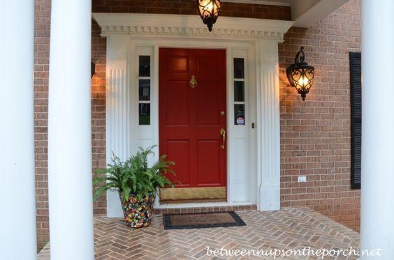 Red Front Doors Front Doors And Benjamin Moore On Pinterest