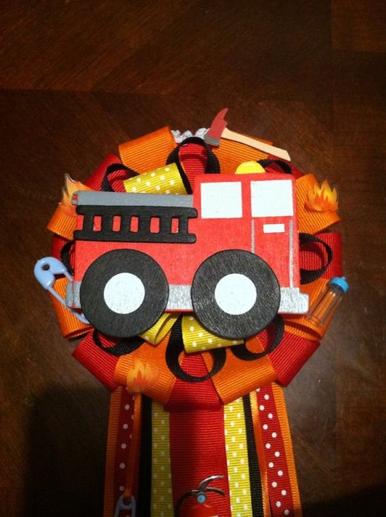 firefighter baby showers birthdays and baby shower corsages