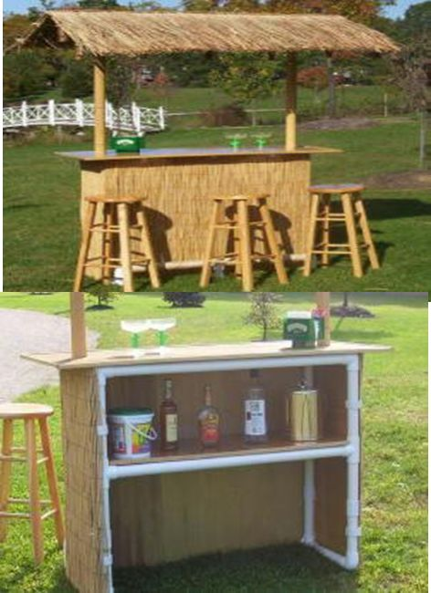 Tiki hut build your own and pipes on pinterest for Build your own bar