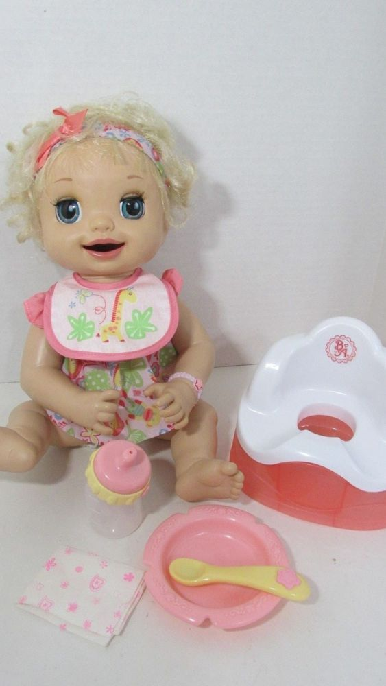 Baby Alive Learn To Potty Doll Soft Face Magnetic Spoon Bottle Potty Chair Lot Hasbro Dollswithclothingac Baby Alive Doll Clothes Baby Alive Baby Alive Dolls