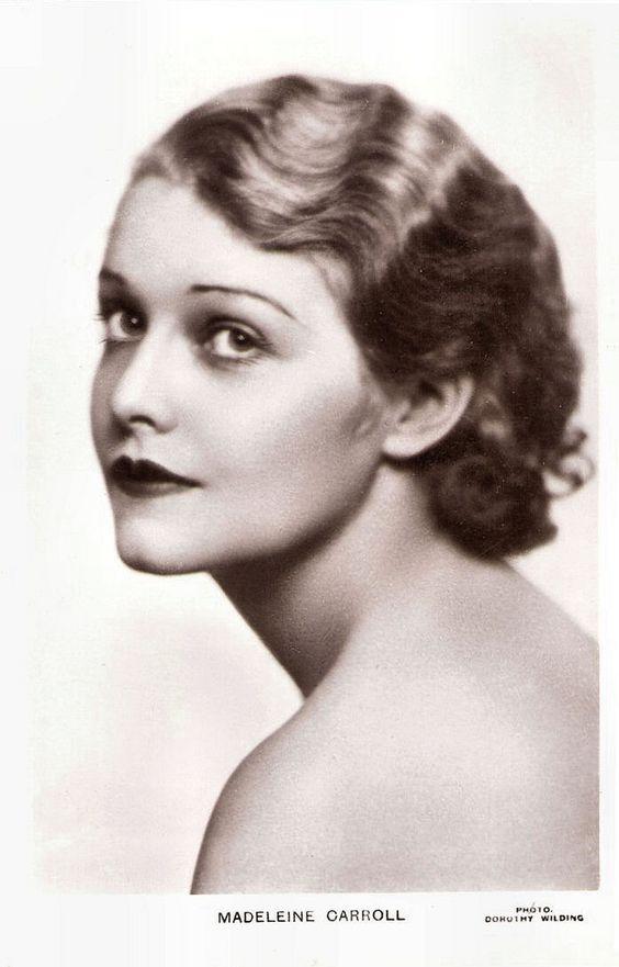 British actress Madeleine Carroll (1906–1987) post card