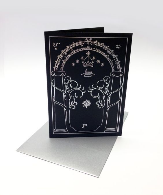 Lord Of The Rings Inspired Greeting Card By Supercoolcards On Etsy Book Lovers Gifts Diy Gifts For Boyfriend Birthday Cards