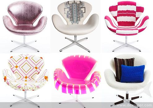 I love these swan chairs!