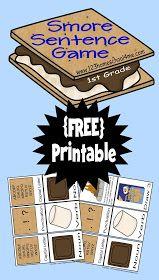 1st Grade Homeschool Language Arts s'more file folder game