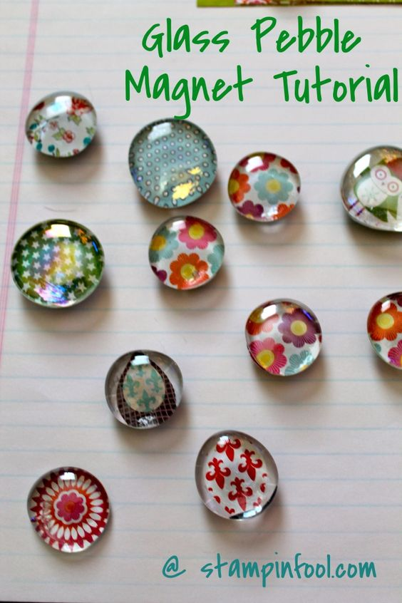 Free Glass Magnet Tutorial with step by step photos | Stampin Fool