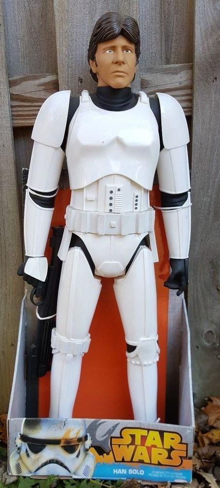 Star Wars Jakks Pacific Giant 31 Inch Action Figure Han Solo Stormtrooper Armour