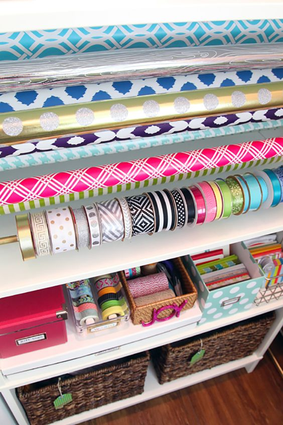 A DIY Gift Wrap Organisation Station
