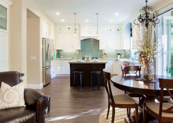 This Great Room in Seal Beach, CA allows for an open floor plan with the kitchen and a wonderful place to entertain