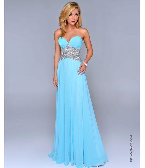 Baby Blue Prom Dress - Qi Dress