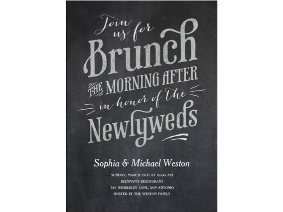 Day After Wedding Brunch Invitations: Brunch Invitations, The O'jays And Wedding On Pinterest