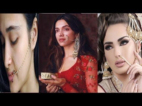 Latest Nose Rings Styles For Brides 2018 Dulhan Nath Design