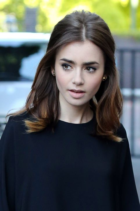 11 Gorgeous Celebrity-Inspired Holiday Hairstyles | Lily Collins | Hairstyleonpoint.com