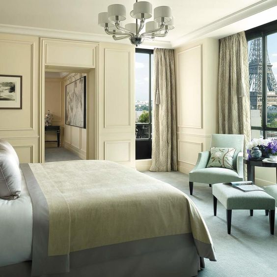 Room and Eiffel Tower View, Shangri-La Hotel Paris vossy.com