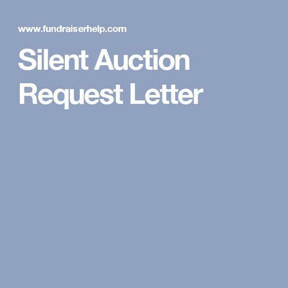 Silent Auction Request Letter                              …