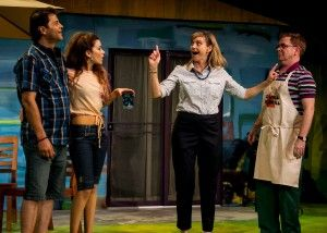 Jeffrey Jones, Summer Spiro and Lisel Gorell-Getz in San Diego REP's production of DETROIT by Lisa D'Amour, directed by Sam Woodhouse.