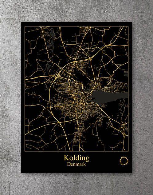 Plakat Kolding Gold Minida Plakater Old Fashioned Cosmopolitan