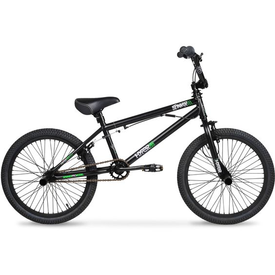20 Hyper Spinner Pro Boys Bmx Bike Black Green Walmart Com Bmx Bikes Bike Freestyle Kids Bike