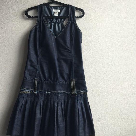 Diesel denim dress pleated SZ xs blue Blue fitted denim dress pleated bottom Diesel Dresses Mini