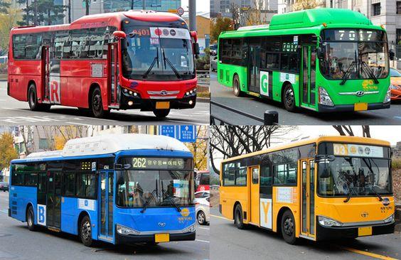 Xe bus là phương tiện rất phổ biến ở Hàn Quốc