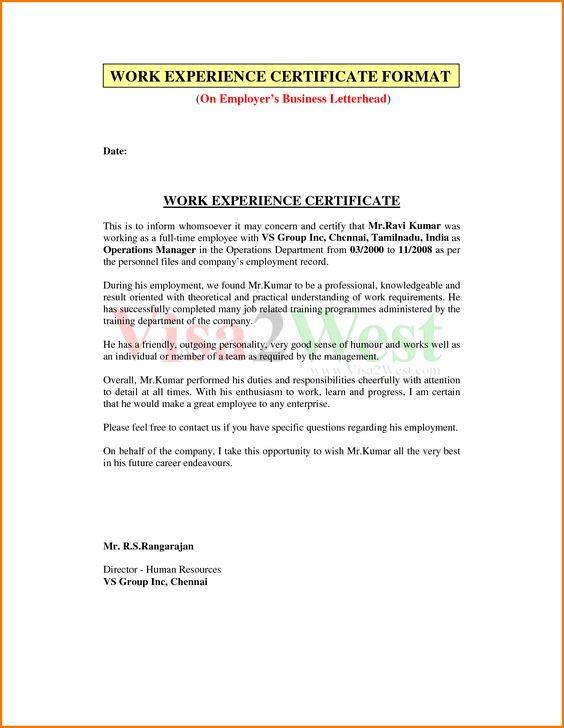 letter format pdf financial statement form experience certificate - job certificate format