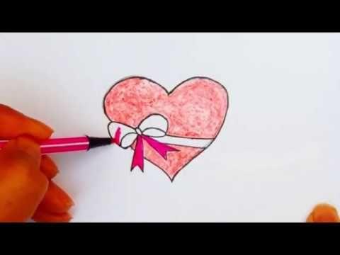 رسم سهل تعليم رسم قلب حب سهل جدا عيد الحب رسومات سهلة تعلم الرسم Youtube Enamel Pins