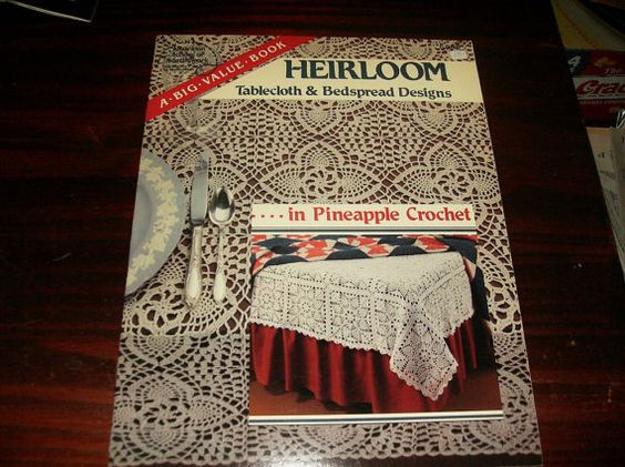 Crochet Pattern Heirloom Tablecloth and Bedspread Pineapple American School of Needlework 6005 Thread Crochet Pattern Leaflet