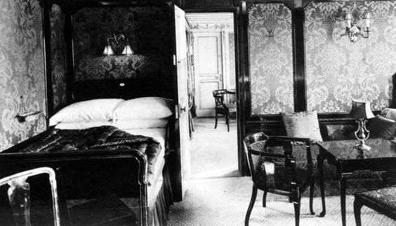 First class accommodations aboard the RMS Titanic in an undated photo. (The New York)