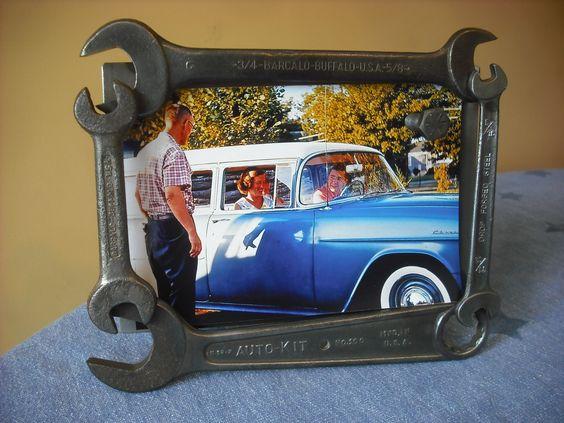 west kept secret black fancy wide hanging magnetic picture frame metalwork pinterest - Wrench Picture Frame