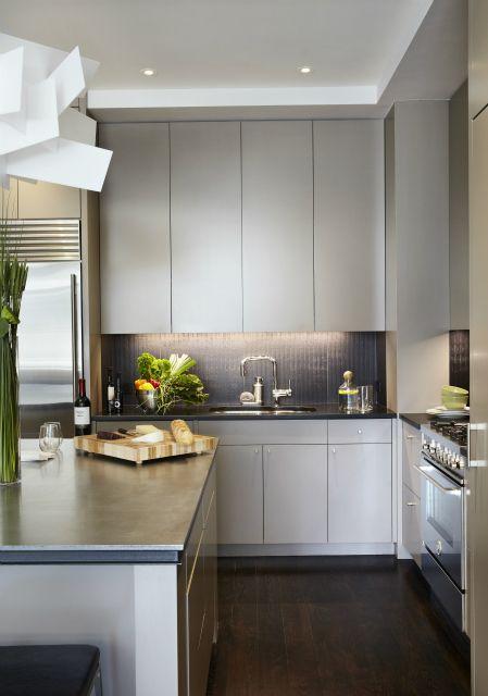 gray cabinets flat panel modern kitchen pinterest kitchen redo flats and countertops. Black Bedroom Furniture Sets. Home Design Ideas