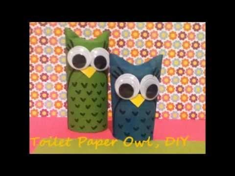A DIY on how to make these toilet paper roll owls, enjoy