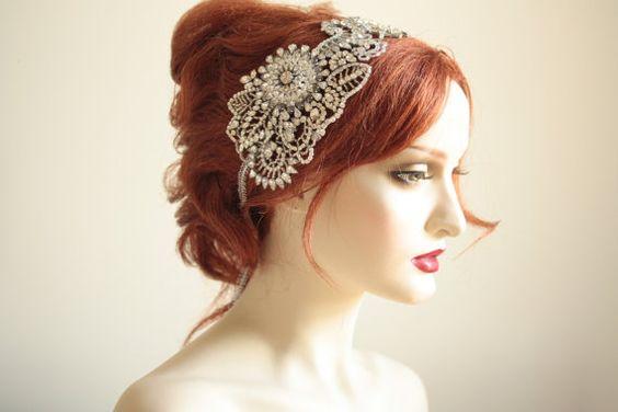 Bridal headband rhinestone and crystalbridal Tiara by MillieICARO