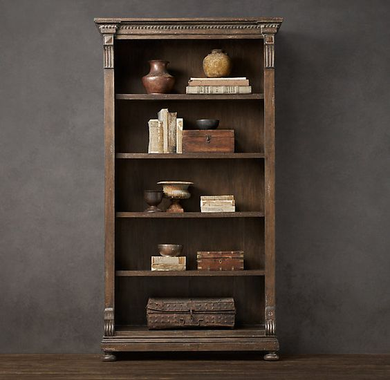 St James Bookcase Antique Coffee Shelving Cabinets. Restoration Hardware Bookcases   Amazing Bookcases