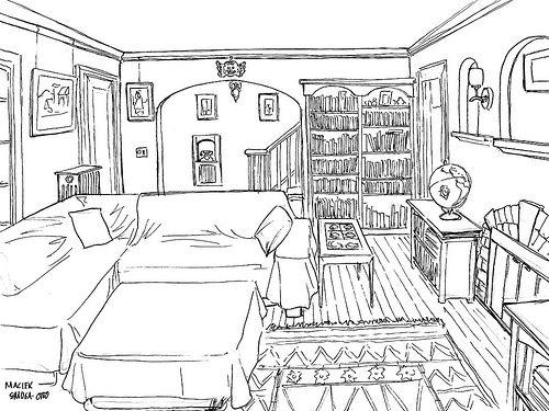 Living Room Drawing living room sketch, inkwisp, via flickr | perspective: rooms